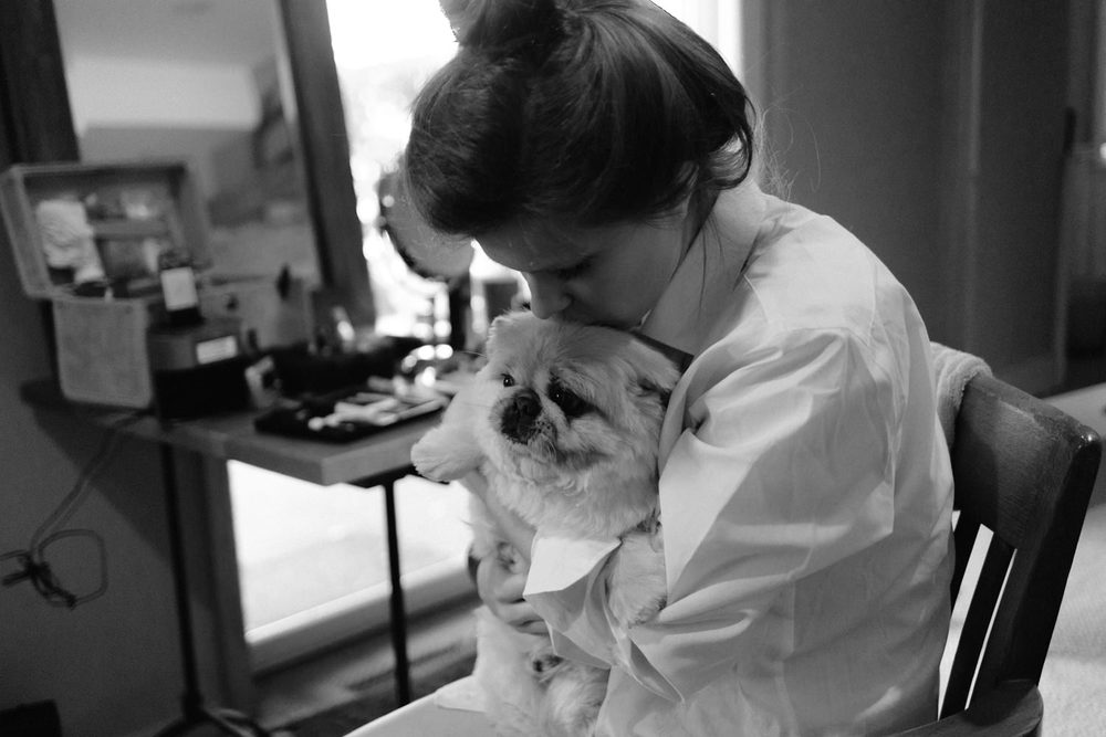 Bride-with-puppy-dog