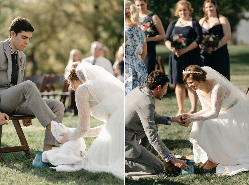 Foot-washing-ceremony-wedding