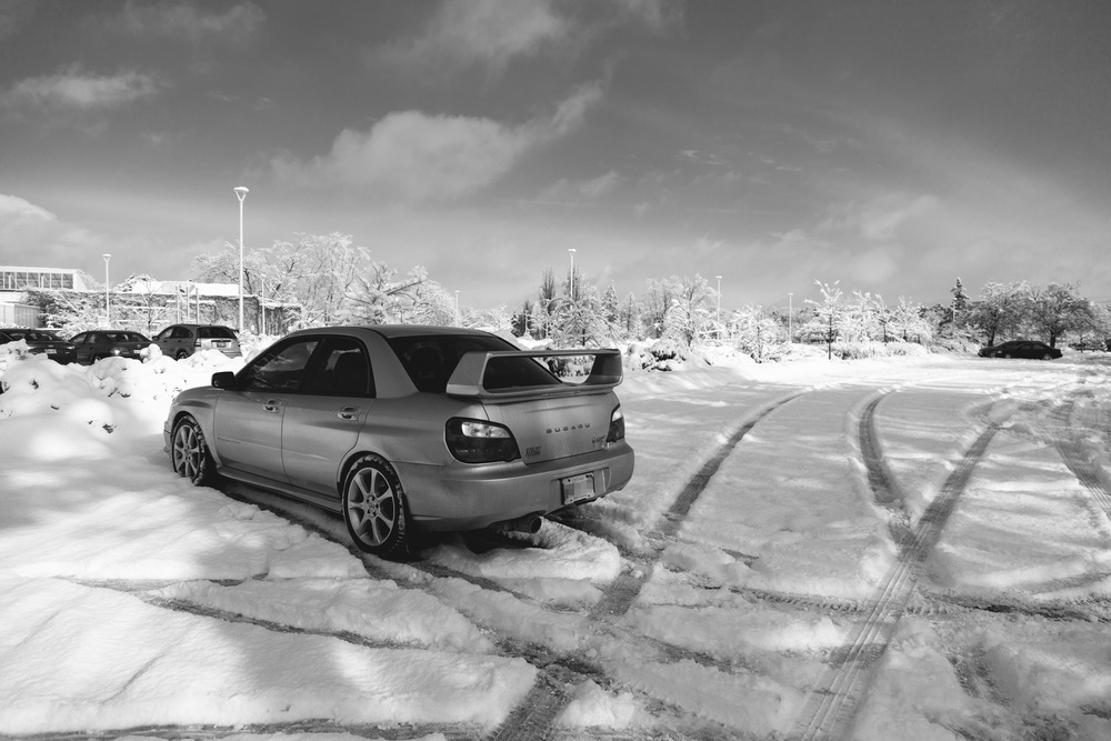 Canadian winters call for appropriate hoon-mobiles. Preferably turbocharged, 4-wheel drive, and silly wings.