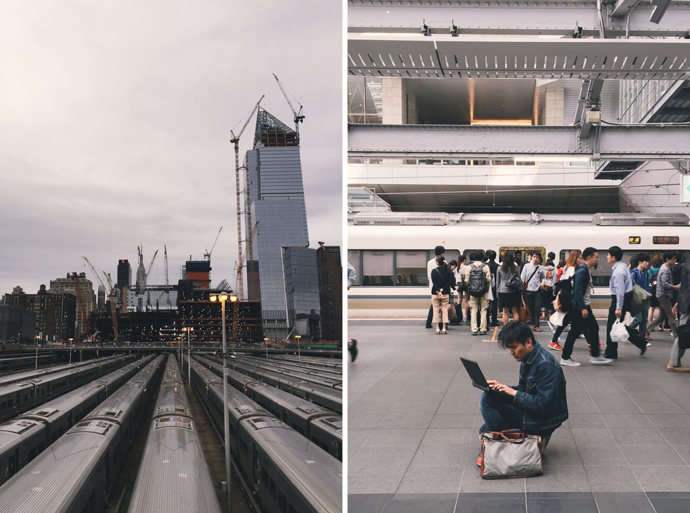 Hudson Yards, New York // Kyoto Station, Kyoto