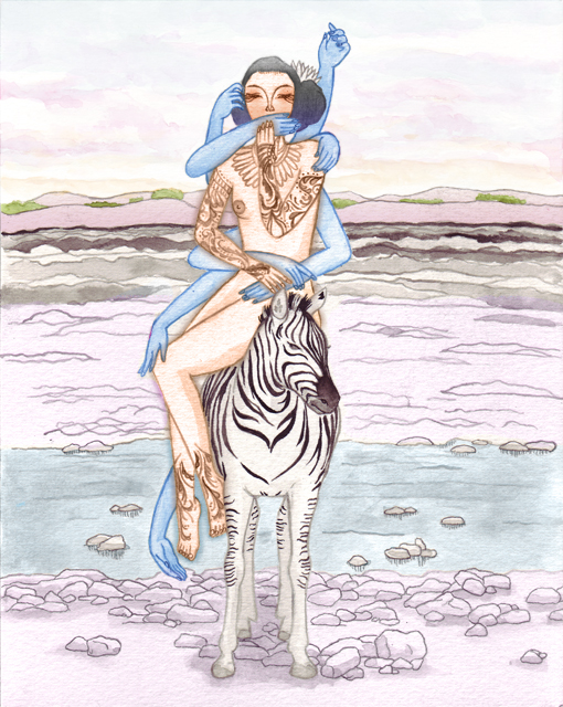 """Captive Gypsy"" cover illustration for Ryerson Poetry Chapbook"
