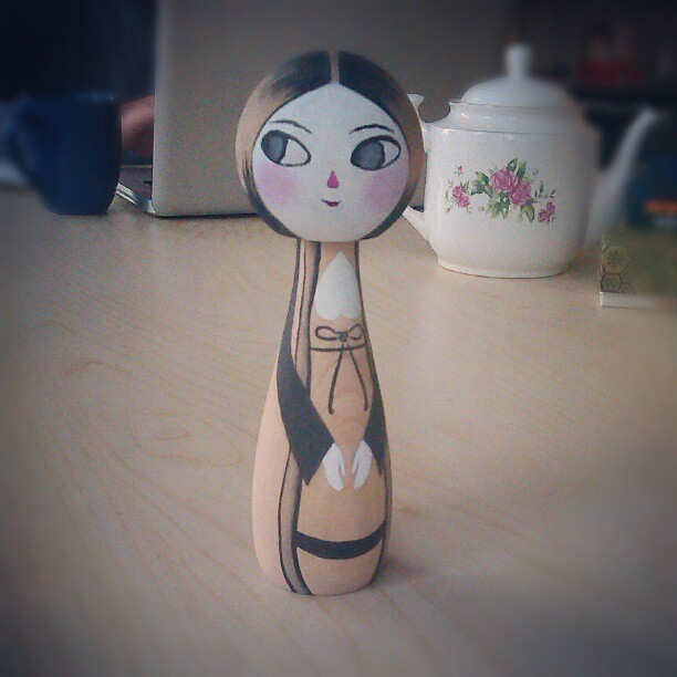Yay I finished my Kokeshi doll for the Nikkei museum & cultural centre!