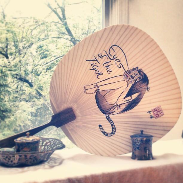 #eyeofthetiger painted fan from early summer