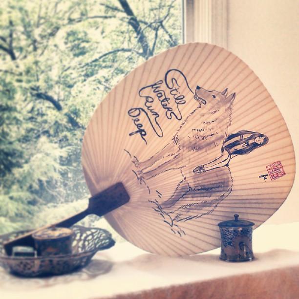 #stillwatersrundeep painted fan