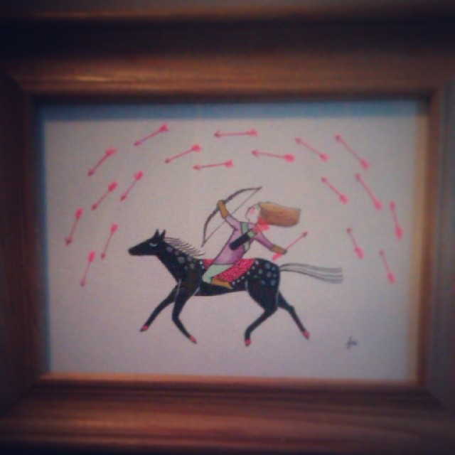 #archer #rider Year of the #horse lil #painting for a young friend