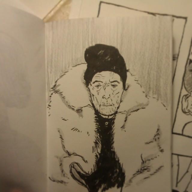 #louisebourgeois #sketchiepeeps #sketchbook #ink #artistoninstagram #portrait