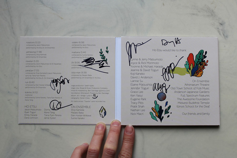 My copy signed by members of Ho Etsu Taiko :)
