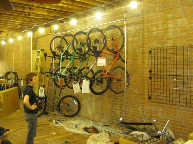 actual bikes hanging