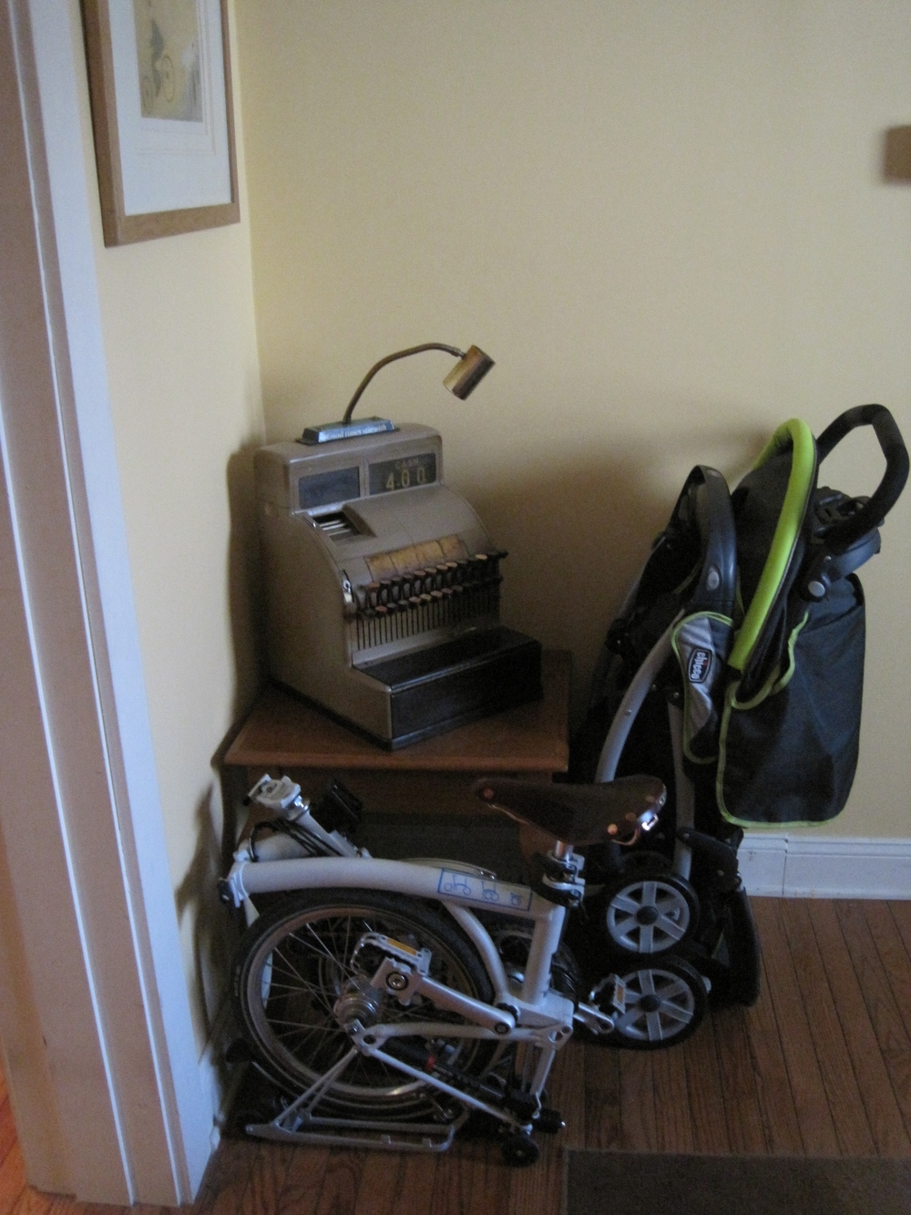 A great added benefit is that Brianne is much happier since the bike takes up way less space in our dining room.