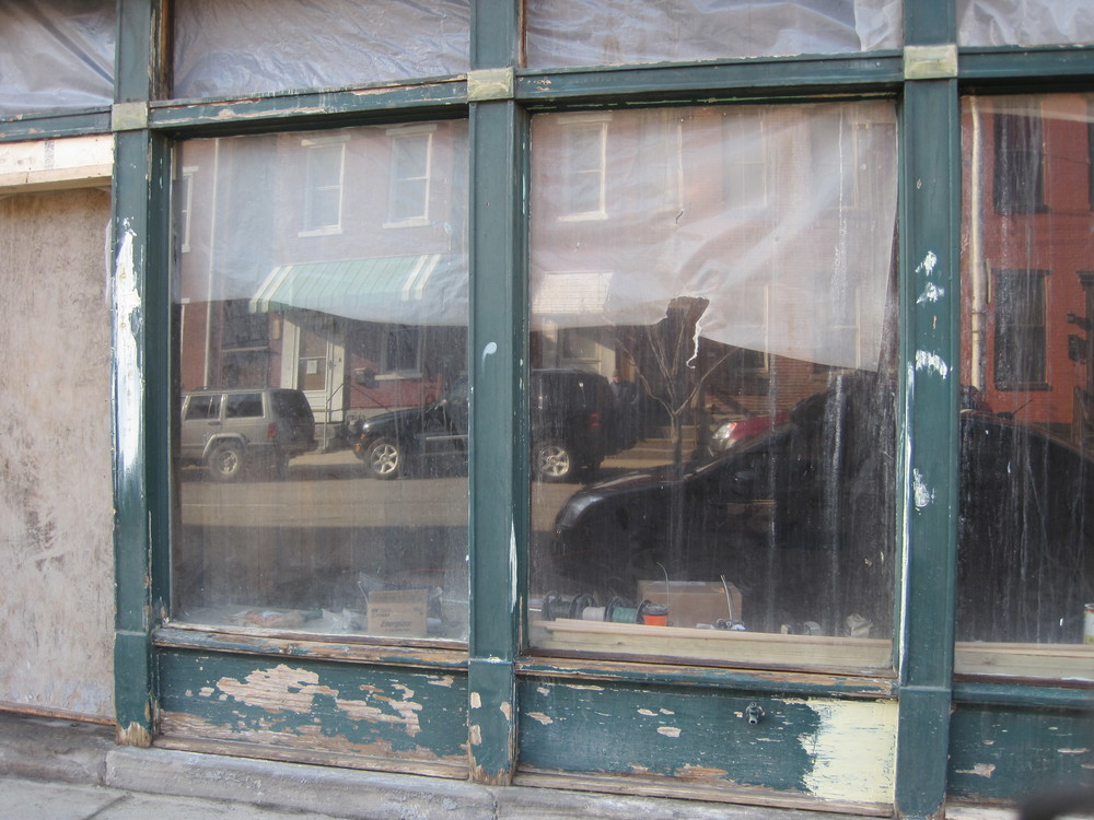 Where we started.  The storefront was in rough shape.