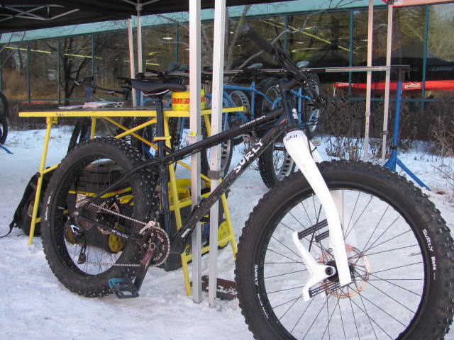 Check out this Surly Ice Cream Truck tricked out with a Lauf carbon spring fork.