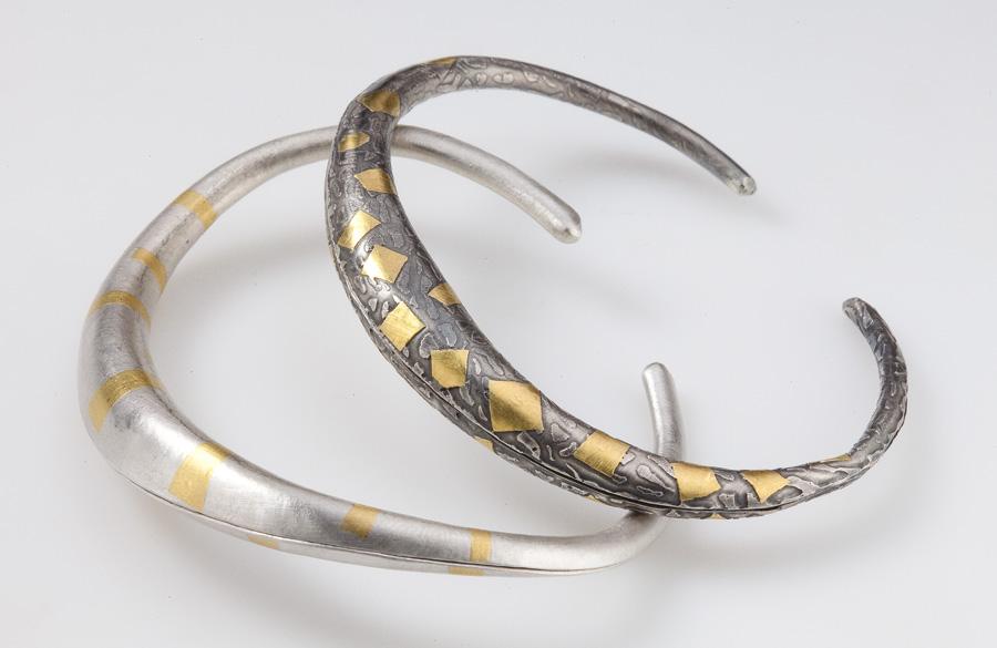 Anti-clastic Keum-boo bracelets