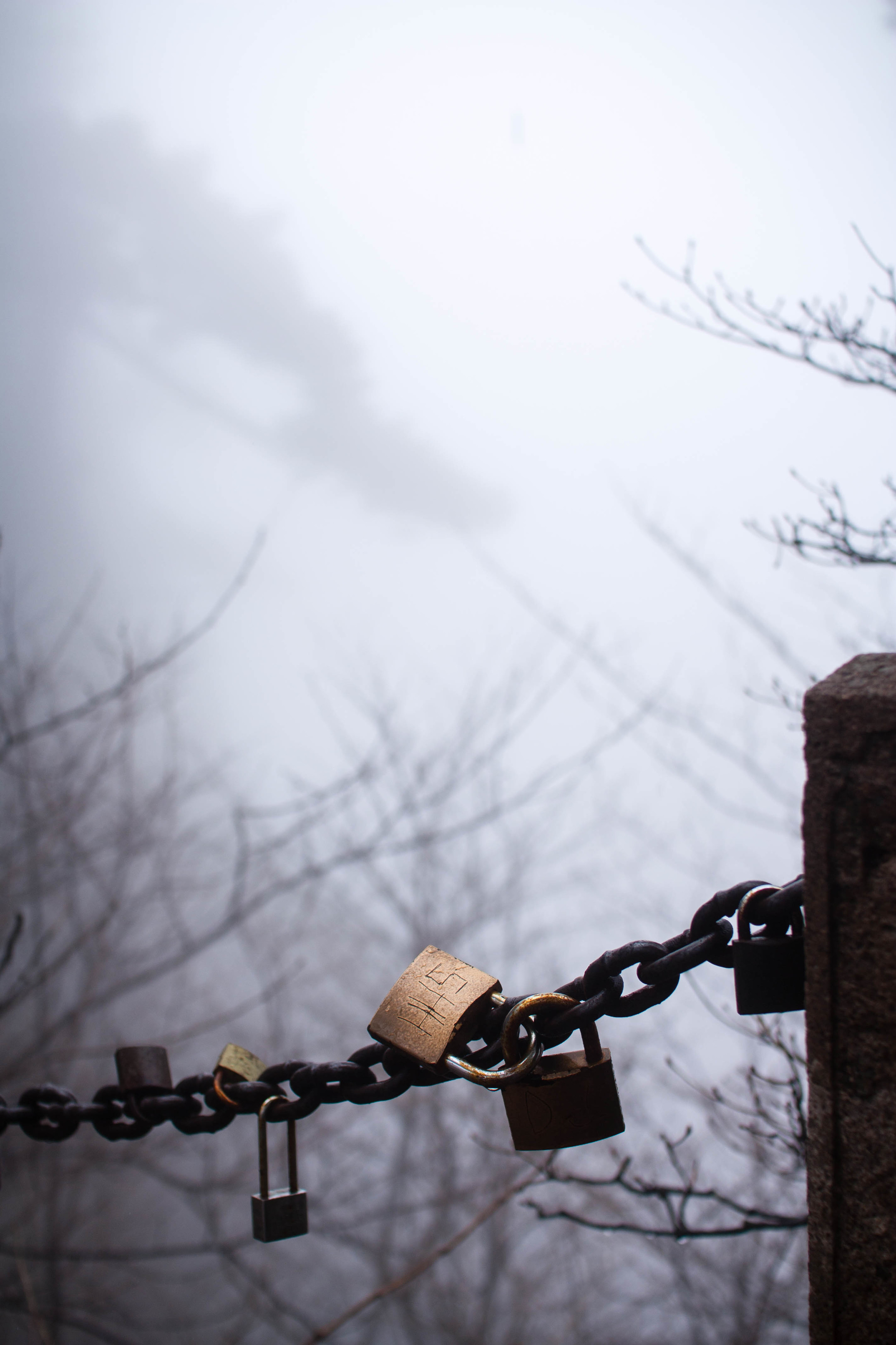 Love locks at Mount Huangshan
