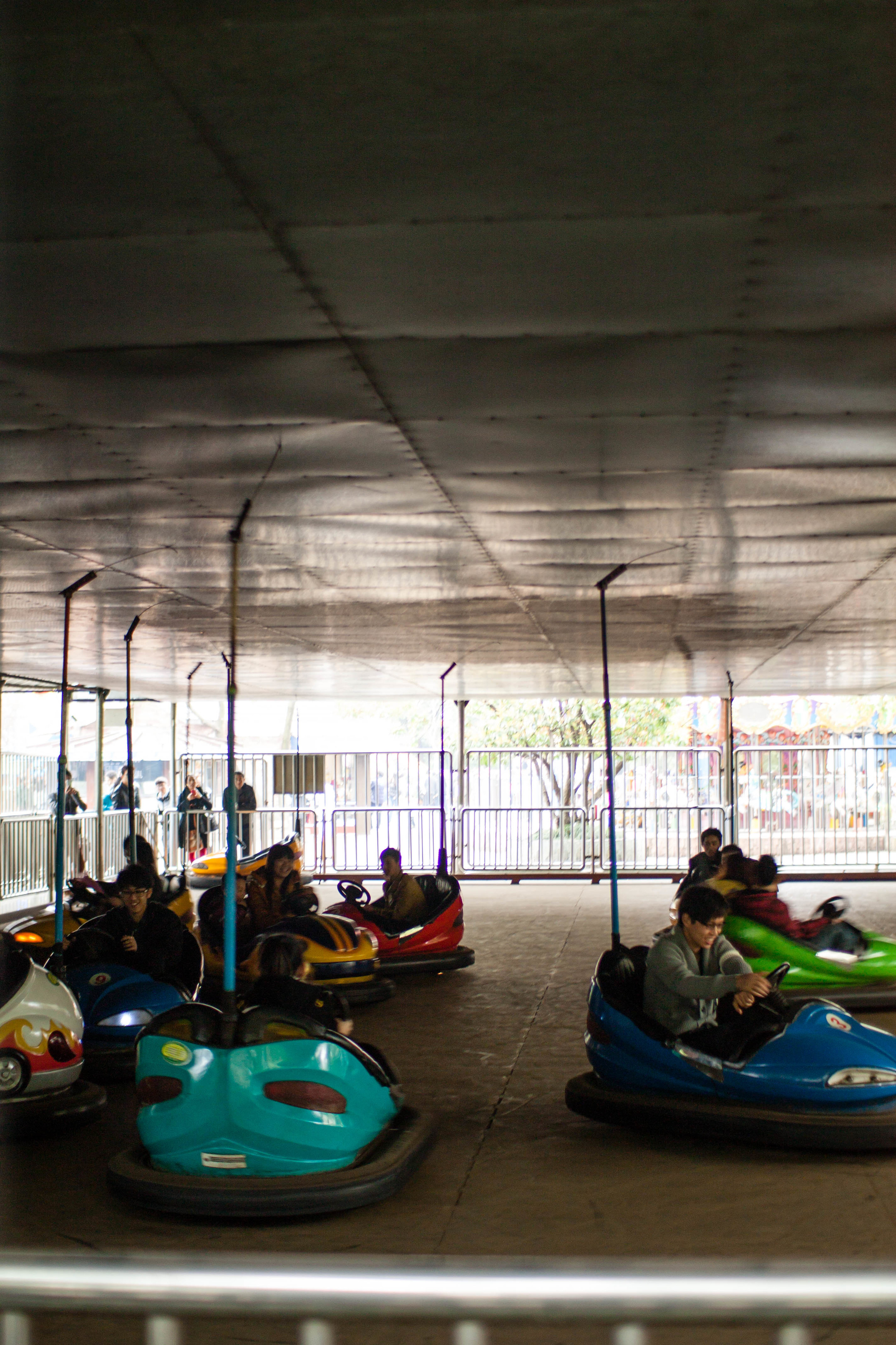 Bumper cars at People's Square, Shanghai