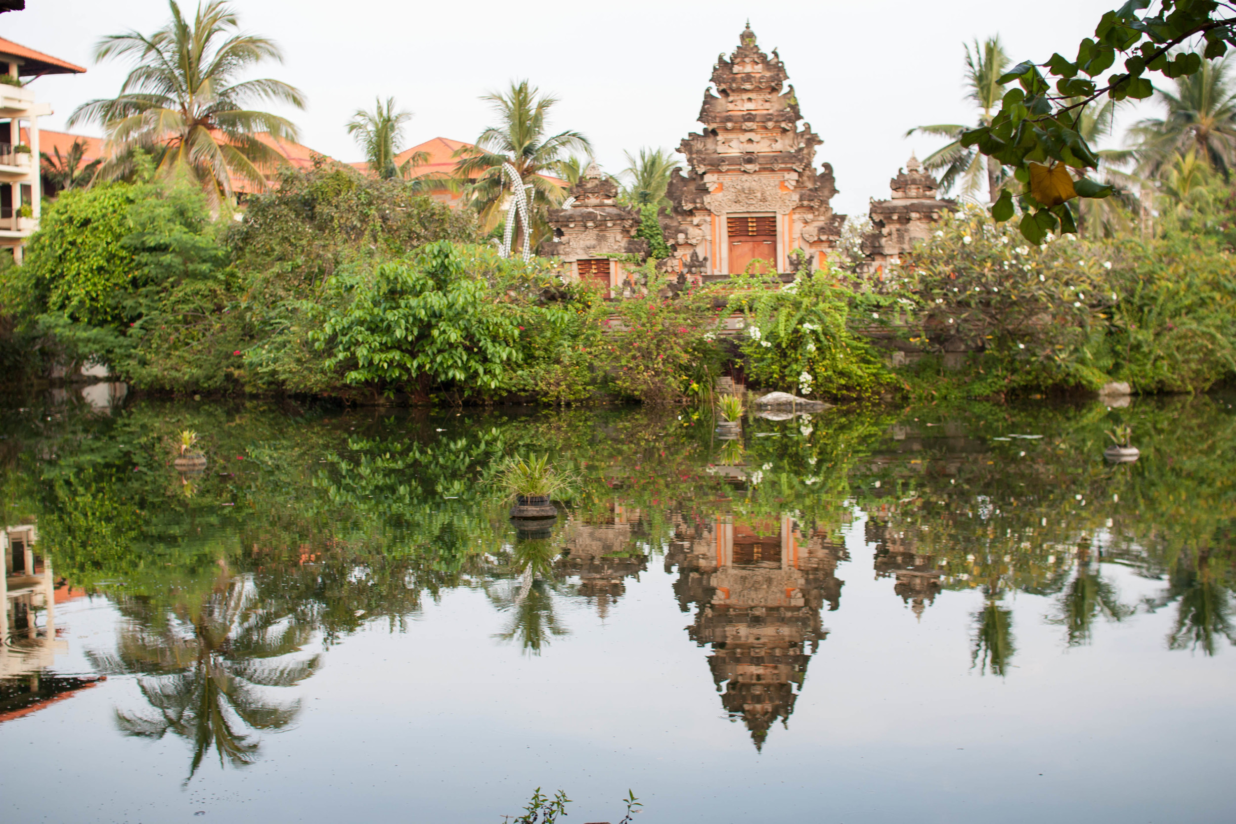 The grounds at Ayodya Hotel, Bali