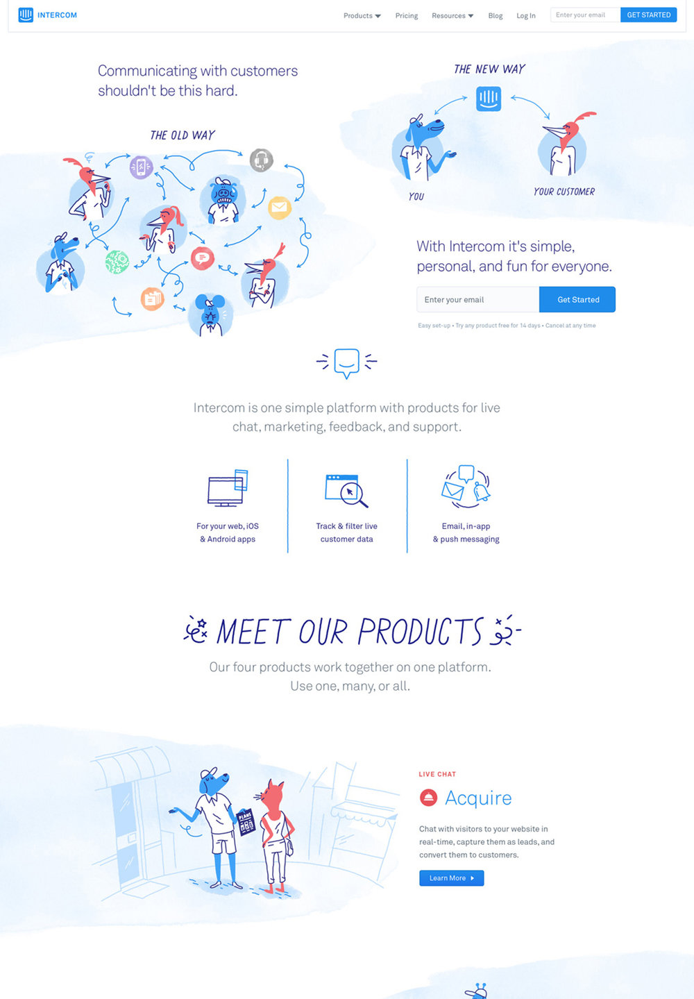 Intercom website,2016