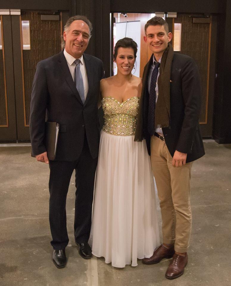 With Hal France & Dimitri Kontos after Puccini Recital