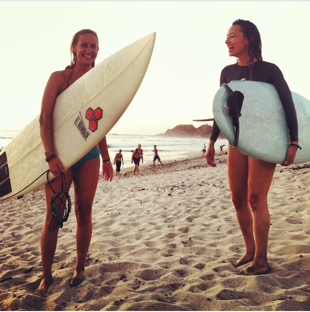 I try to take a surf trip to Costa Rica once a year, I've met the most incredible people but I definitely miss making new lady surf buddies who understand my lust for the open ocean and sea water in my hair!