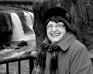 Maria Mazziotti Gillan, Founder & Editor of the Paterson Literary Review at the Great Falls in Paterson (Photo: Mark Hillringhouse)