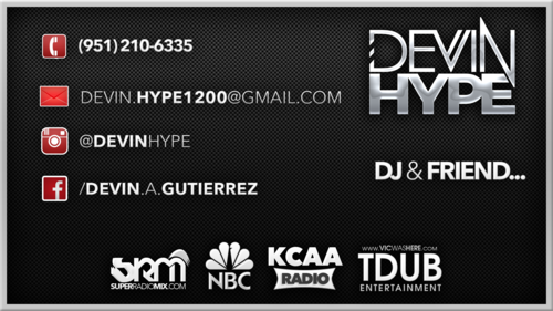 Tdub entertainment business cards devin hype business cards backg reheart Image collections