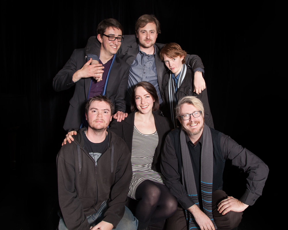 The cast of Roll For Initiative - a short play being performed in Nothing Is Sacred.jpg