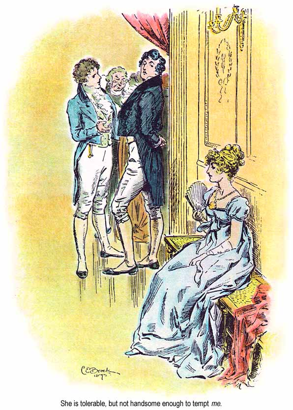 C. E. Brock illustration for the 1895 edition of Jane Austen's novel Pride and Prejudice