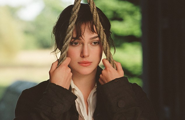 Keira Knightly as Lizzy in the 2005 film dir. Joe Wright