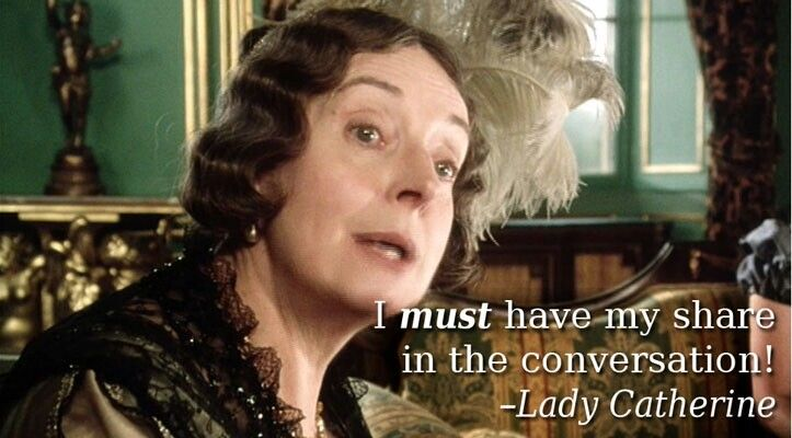 """I must have my share in the conversation!"" - Barbara Leigh-Hunt as Lady Catherine de Bourgh (1995)"
