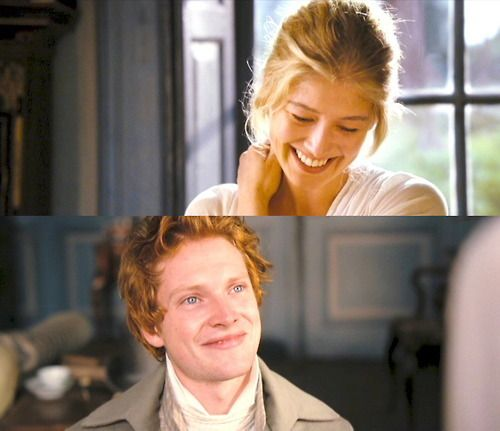 Rosamund Pike as Jane Bennet & Simon Woods as Mr. Bingley in Pride & Prejudice (2005)