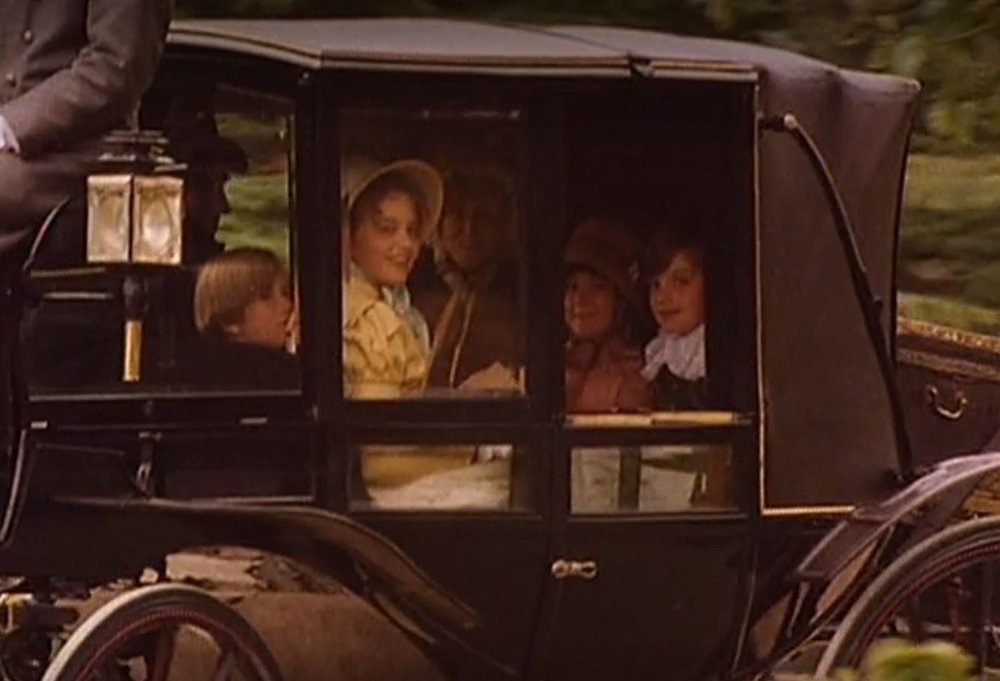 The Gardiner children in their parents' carriage (1995)