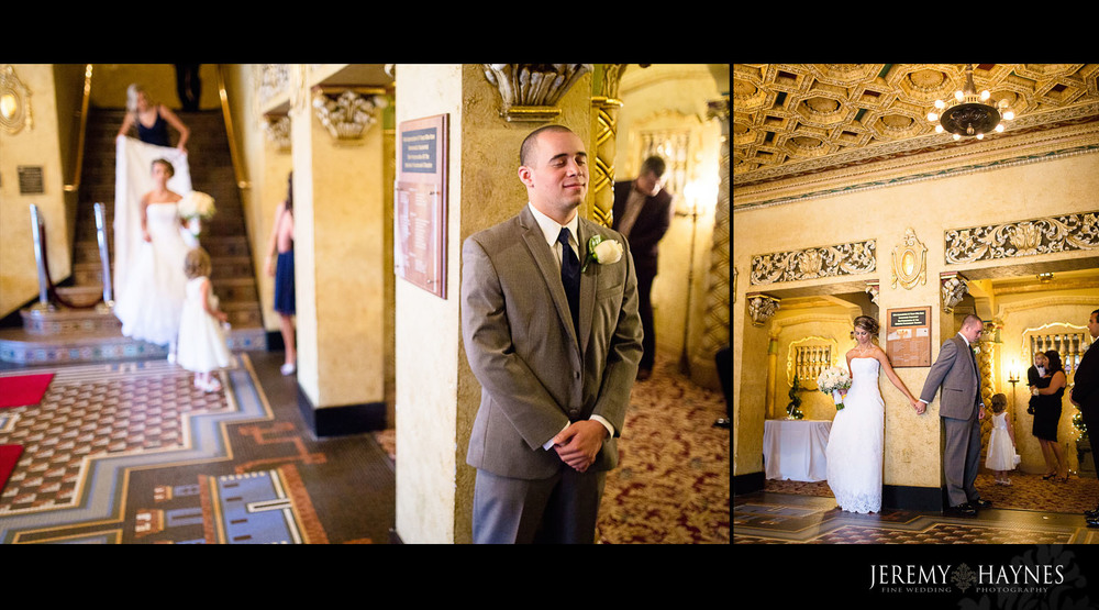 first-look-wedding-anderson-paramount-theatre