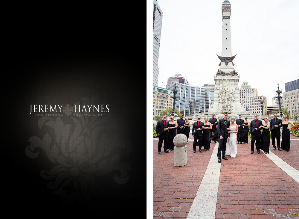 monument-circle-wedding-party