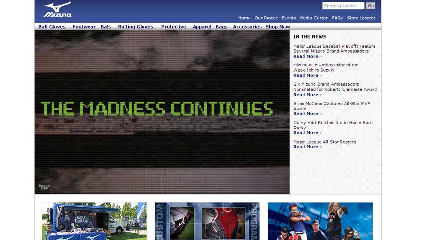 Homepage before