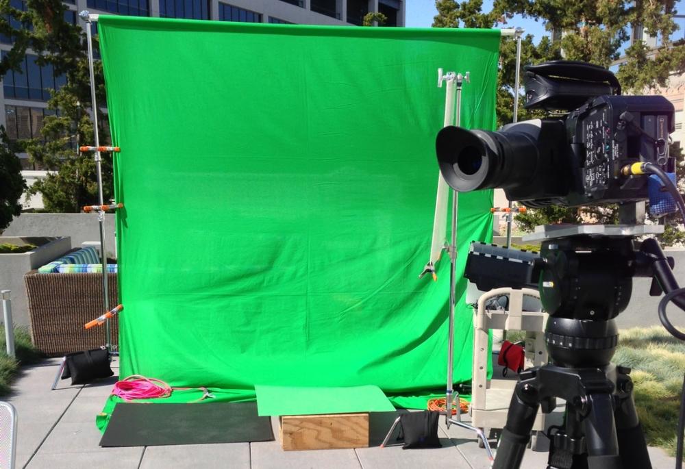 Greenscreen shoot on Twitter's roof deck