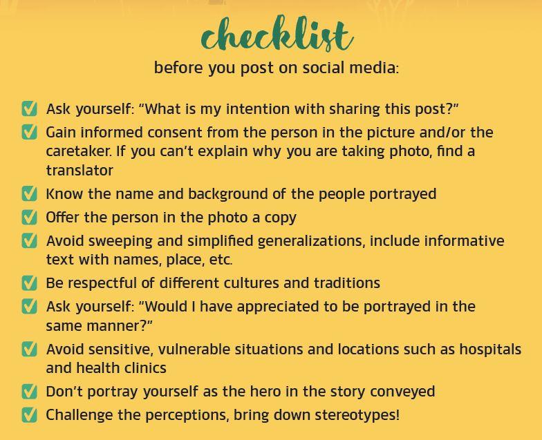 Checkliste vorm Posten