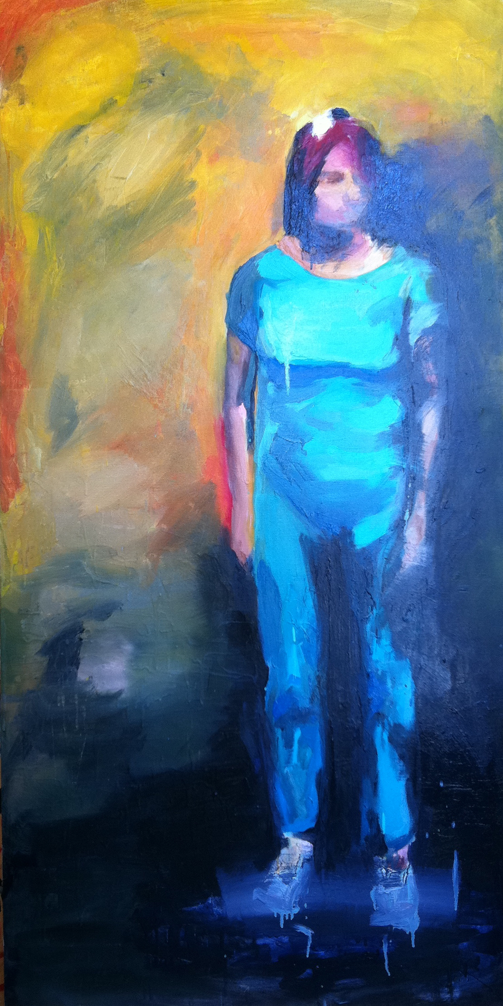 Woman at the Grande Palais 3ftx6ft oil on canvas 2012 sold
