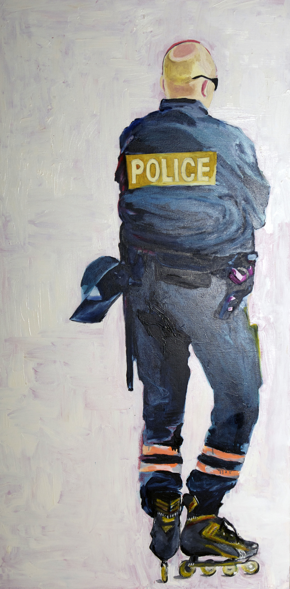 Cop in Paris 3ftx6ft Oil on canvas 2012 sold