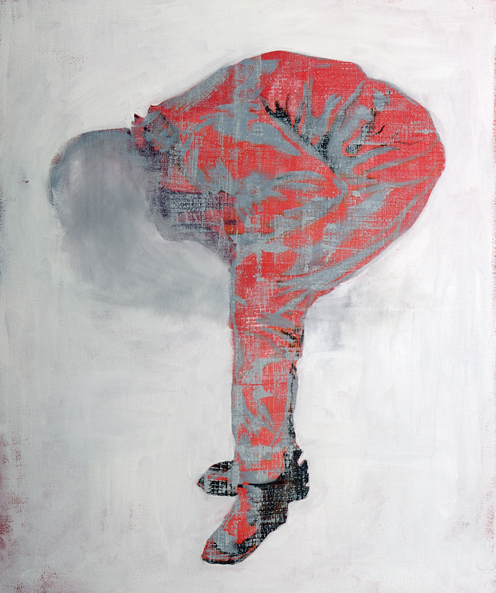 Crouching Figure #2  2ftx3ft Oil on canvas 2011 sold