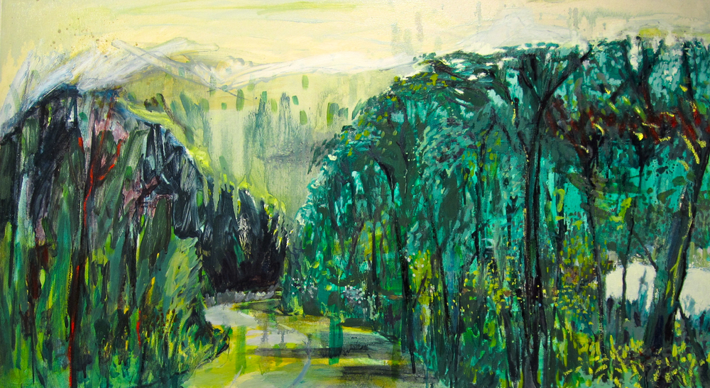 Road to Lamlash 3ft6inx2ft oil on canvas 2014
