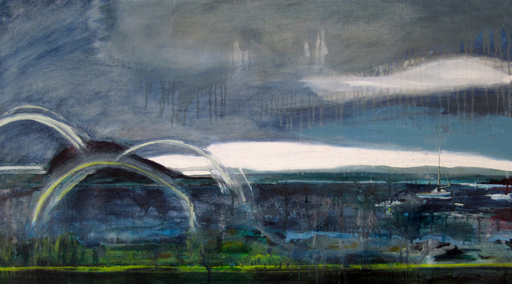 Holy Isle 3ft6inx2ft oil on canvas 2014