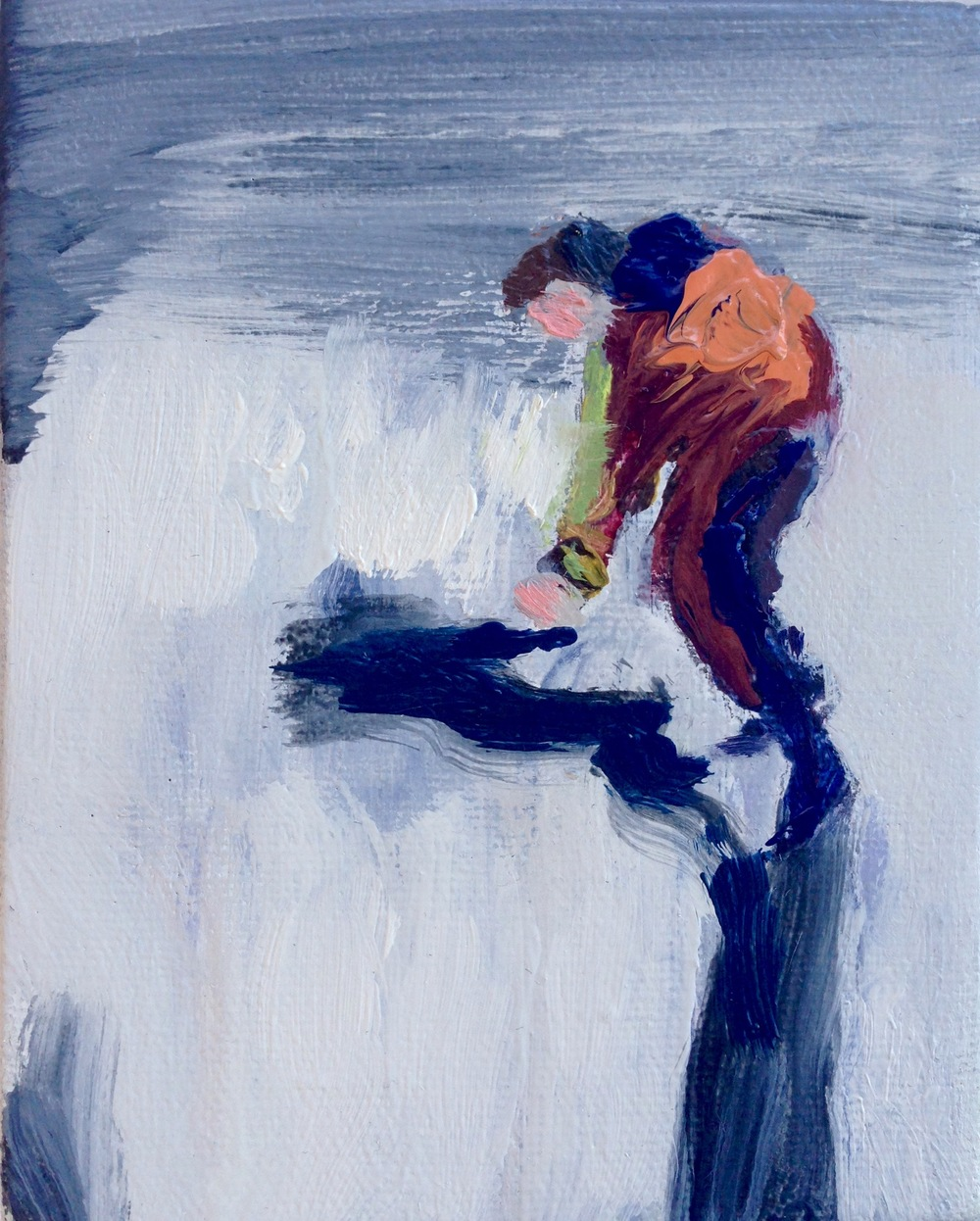 Climber 4inx5in Oil on canvas 016