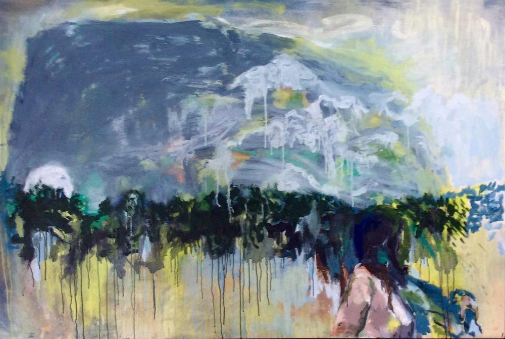 Eirene 4ft6inx3ft Oil on canvas, walnut frame 2016