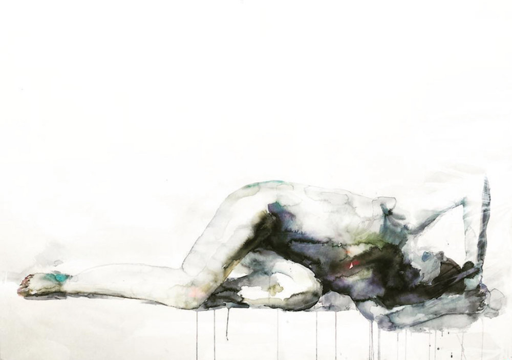 Reclining Woman, 58 x 36 inches