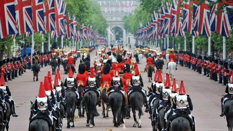 @Trooping the colour