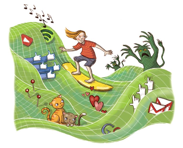 Illustration ur Koden till digital kompetens, Natur & Kultur 2015