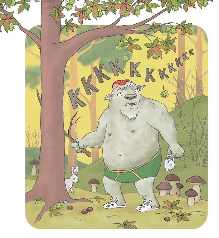 Illustration ur Kaos i kojan, Hatten Förlag 2018