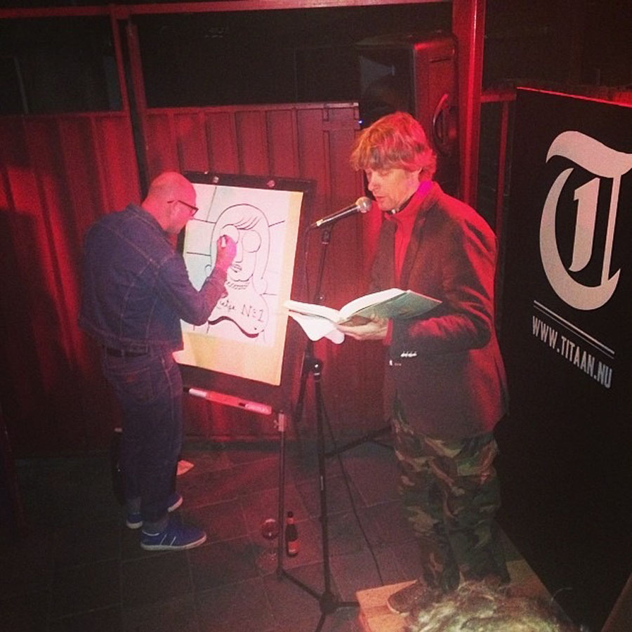 Andrew Cartwright leest, Jeroen de Leijer tekent