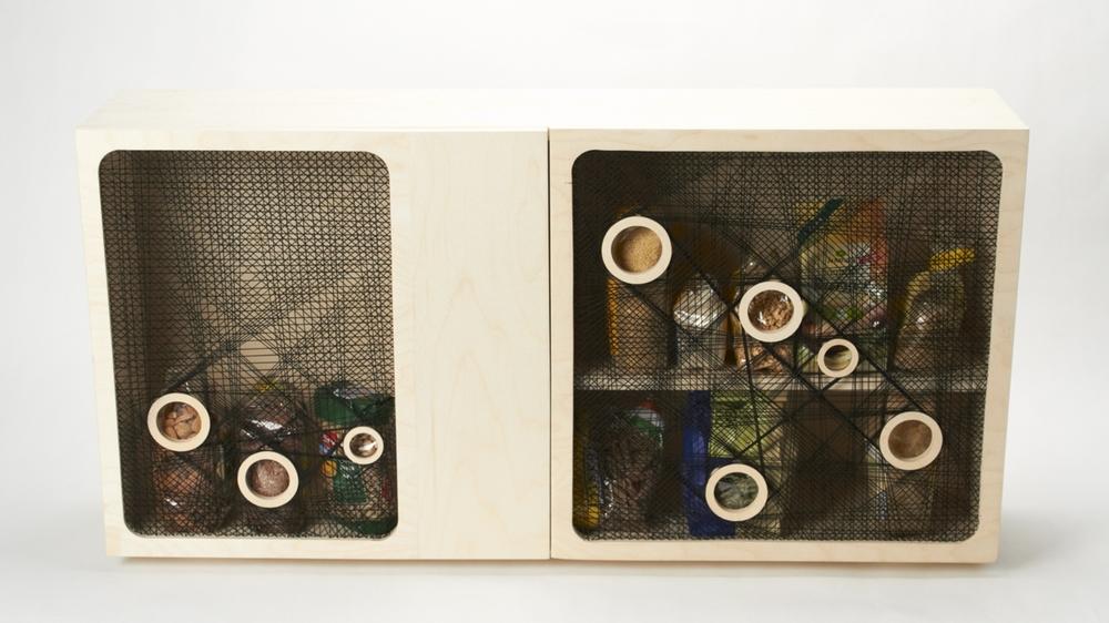 A spotlight kitchen cabinet by  Ina Römling &  Ronja Hasselbach