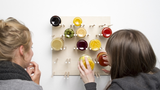 A shelf for preserving jars by Ina Römling & Ronja Hasselbach