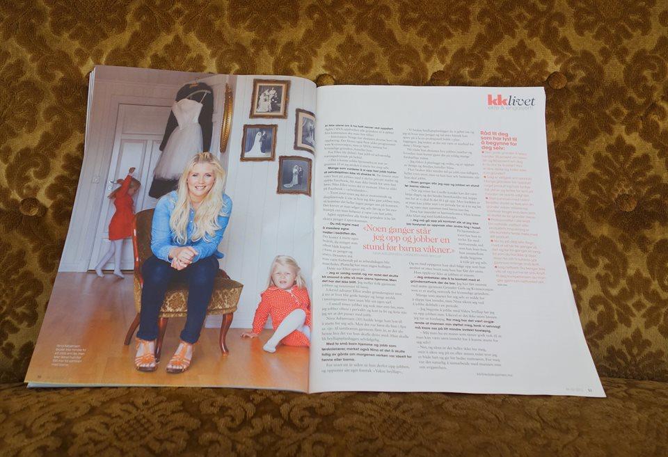 Jeg var så heldig å få intervju og bilde på trykk i KK - august 2013. Her fikk jeg snakket om Vakre Bryllup og det å kombinere livet som småbarnsmamma og Gründer av egen bedrift. En kombinasjon som fungerer strålende for meg!